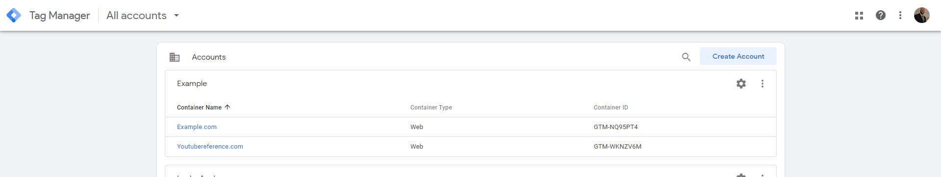 Google Tag Manager Access
